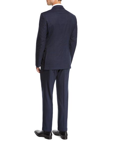 Men's two-piece wool plaid suit
