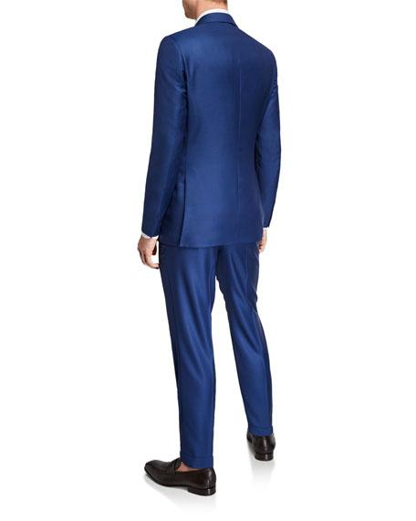 Men's Two-Piece Textured Solid Wool Suit