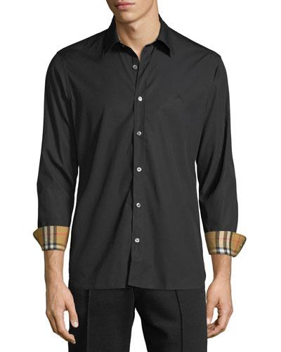 Men's William Signature Check-Facing Sport Shirt
