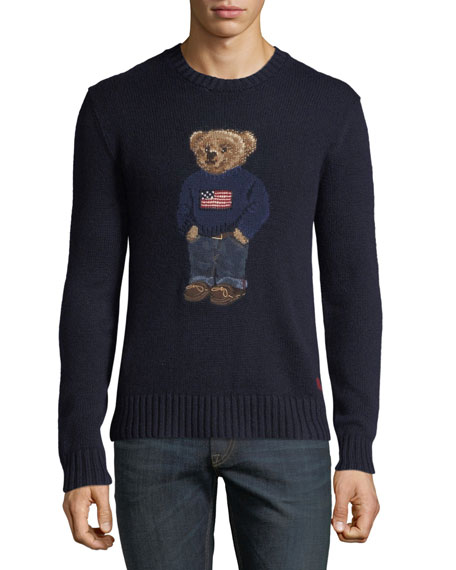 Image 1 of 1: Men's Teddy Bear Sweatshirt