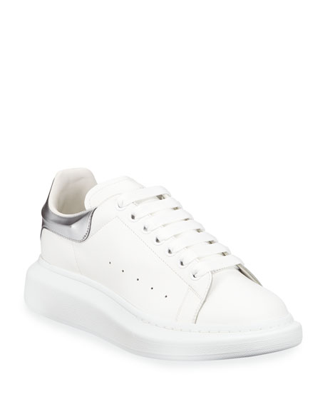 Image 1 of 1: Men's Oversized Leather Low-Top Sneakers