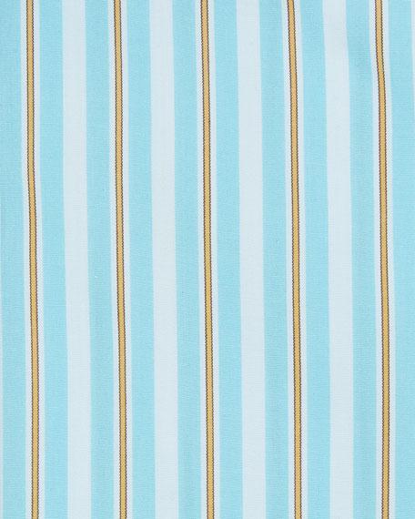 Men's Long-Sleeve Multi-Stripe Dress Shirt