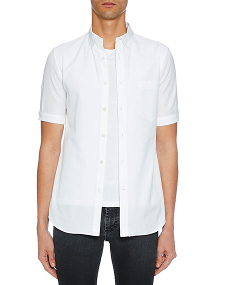 Image 1 of 1: Men's Short-Sleeve Button-Up Shirt