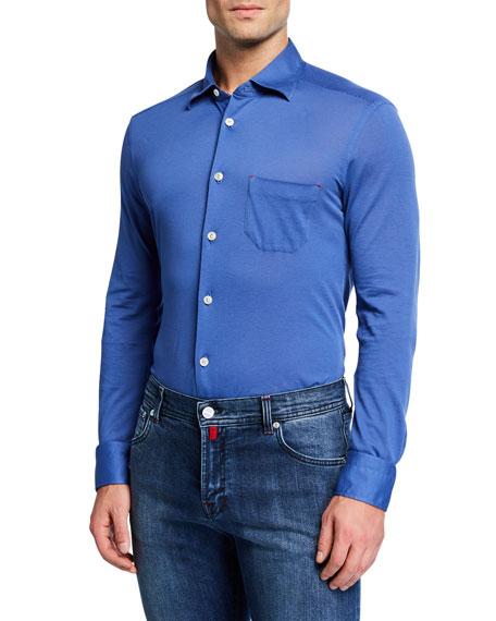 Men's Pique Pocket Sport Shirt, Blue
