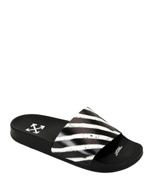 Off-White Men's Pool Slide Spray Sandals