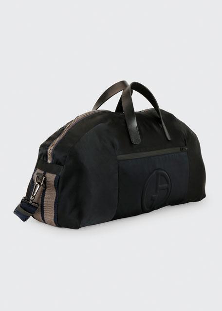 Men's Nylon Carryall Duffel Bag, Black