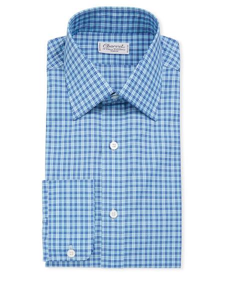 Men's Tattersall Long-Sleeve Dress Shirt