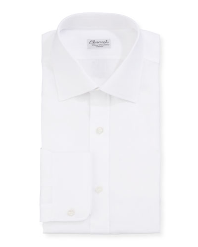 Men's Solid Linen Dress Shirt  White