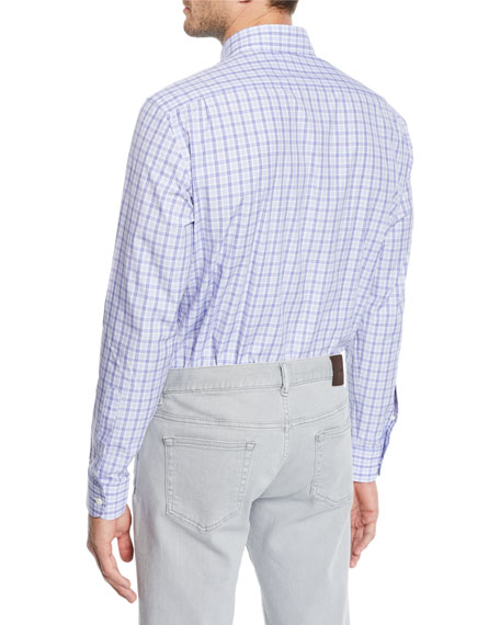 Men's Cento Quaranta Check Cotton Sport Shirt