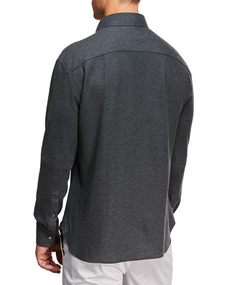 Men's Heathered Knit Sport Shirt