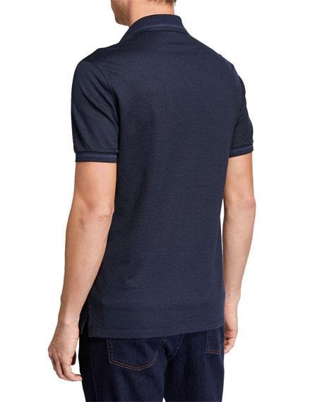 Men's Silk-Blend Jersey Polo Shirt