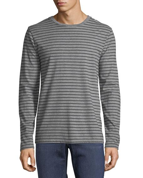 Men's Long-Sleeve Striped Cotton T-Shirt
