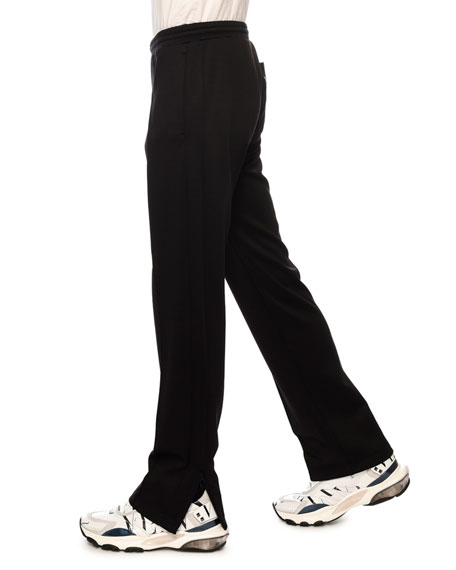 Men's VLTN Straight-Leg Jersey Track Pants