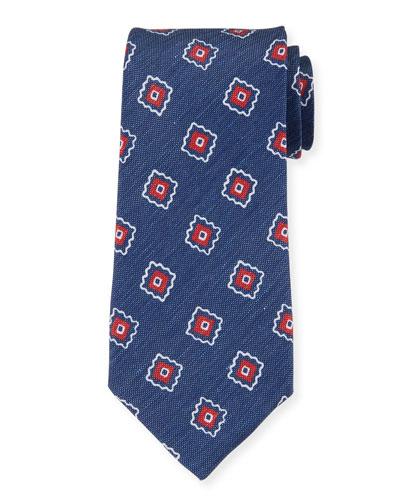 Camargue Large-Floral Printed Tie  Multi