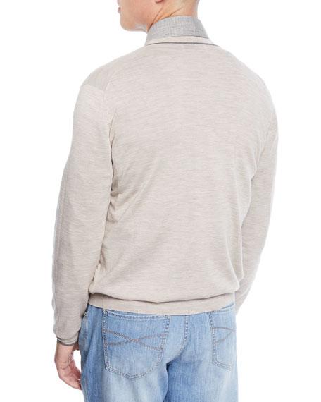 Men's Button Stripe Cardigan