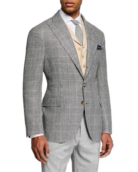 Men's Retro Prince of Wales Plaid Sport Jacket