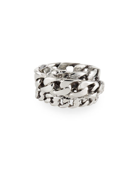 Image 1 of 1: Men's Spiral Curb Chain Ring