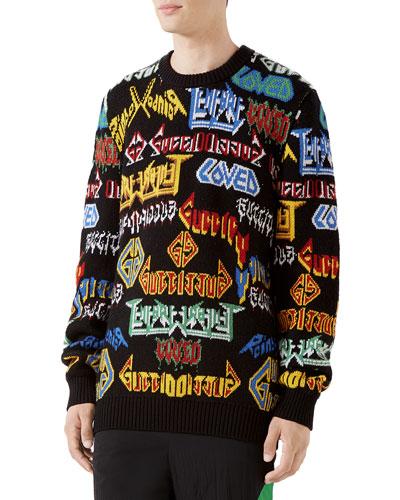 Men's Medley Logo Intarsia-Knit Sweater