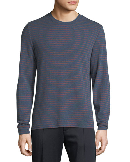Image 1 of 1: Men's Double Knit Striped Crew Shirt