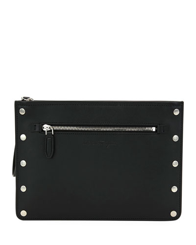 Men's Giano Studded Leather Pouch