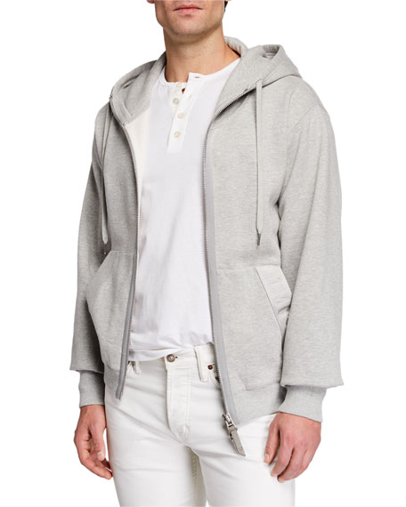 Image 1 of 1: Men's Garment Dyed Hoodie Sweatshirt, Gray