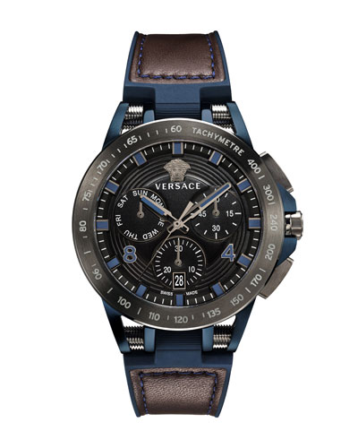 Men's 45mm Sport Tech Chronograph Watch  Brown