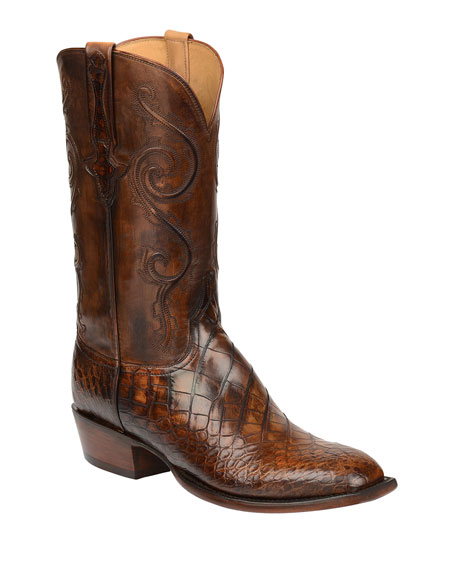 Image 1 of 1: Men's Colton Gator Leather Cowboy Boots (Made to Order)