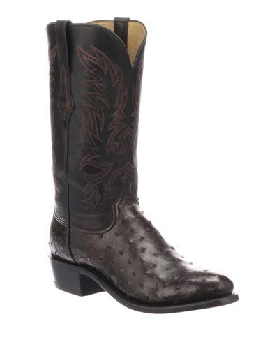 Men's Elgin Ostrich Cowboy Boots
