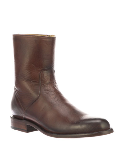 Men's Jonah Burnished Leather Dress Boots (Made to Order)