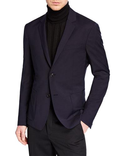 Men's Poplin Wool Sport Jacket