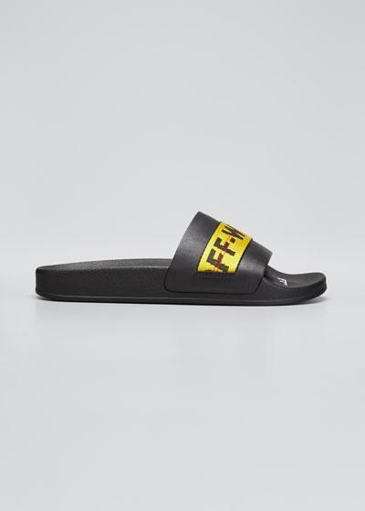 Men's Industrial Leather Slide Sandals