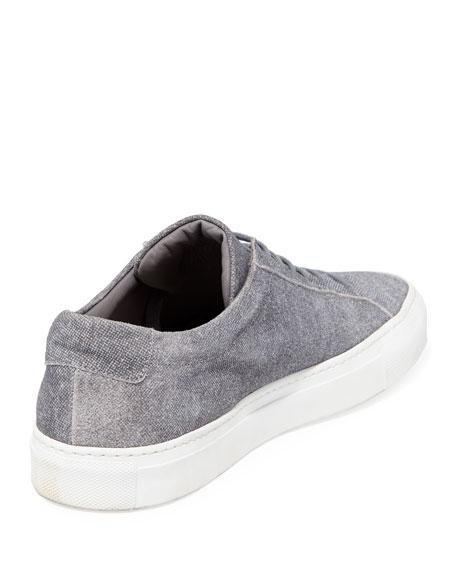 Men's Achilles Patterned Suede Low-Top Sneakers