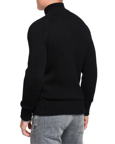 Men's 7 Gauge Fisherman's Rib Zip Sweater