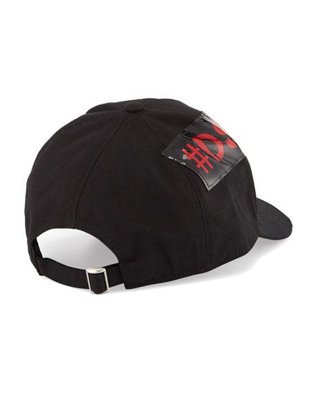 Men's Logo-Trim Gabardine Baseball Cap, Black