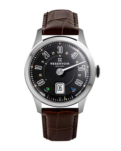Men's Longbridge Club Watch w/ Leather Strap