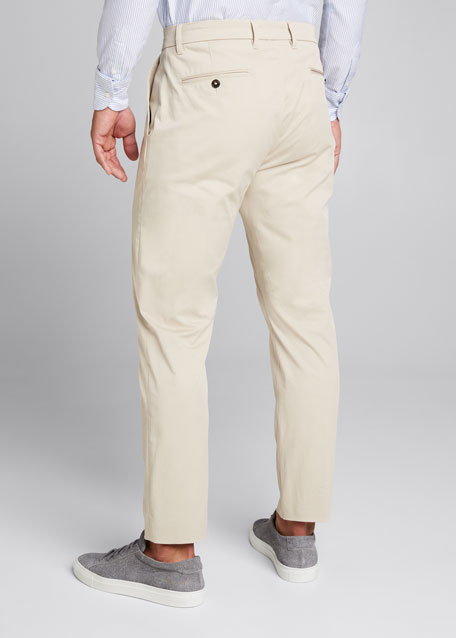 Men's Flat-Front Cropped Trousers