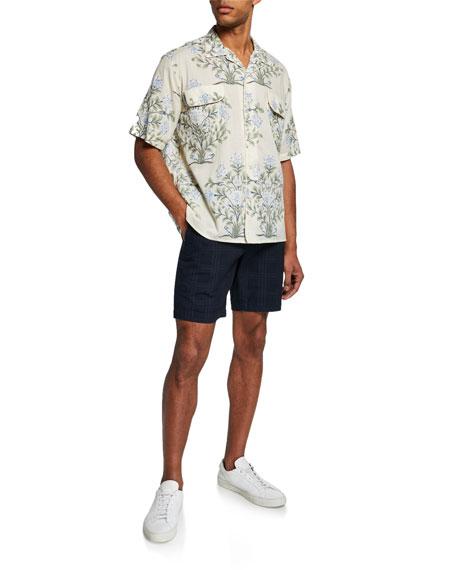 Men's Japanese Check Cotton Shorts