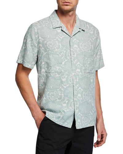 Men's Lotus Leaf Cabana Shirt