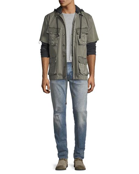 Men's Blake Slim-Straight Distressed Jeans, Blue
