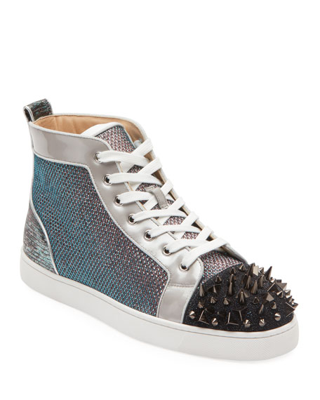 Men's Lou Pik Pik Oralto Spiked High-Top Sneakers