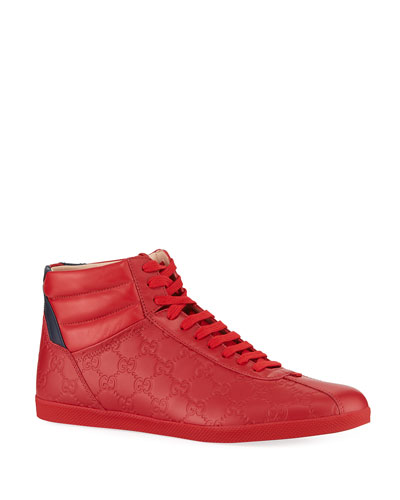Men's Bambi High-Top Leather Sneakers