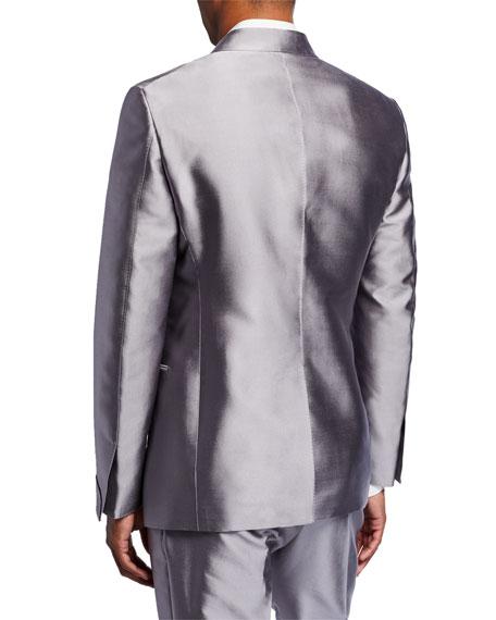 Men's Metallic Shawl-Collar Dinner Jacket