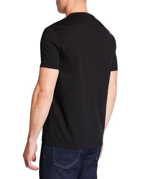 Men's Short-Sleeve V-Neck T-Shirt, Black