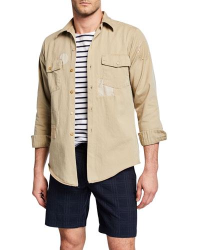 Men's The Pan-Am Patchwork Twill Shirt