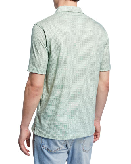 Men's Geometric Short-Sleeve Sport Shirt
