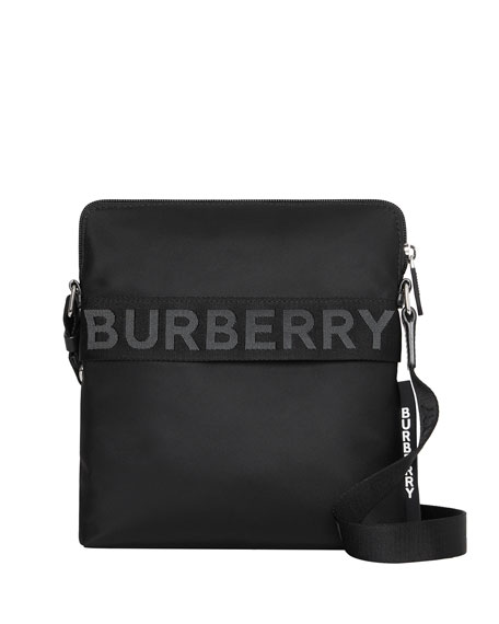 Image 1 of 1: Men's Neo-Nylon Logo-Web Crossbody Bag