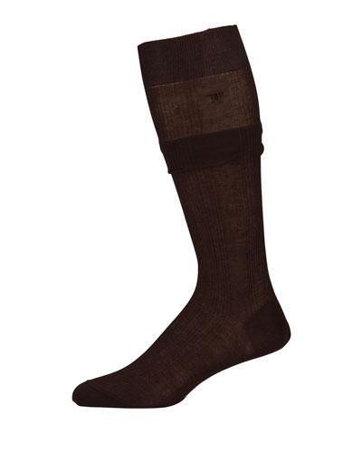 Men's Ribbed Mid-Calf Socks