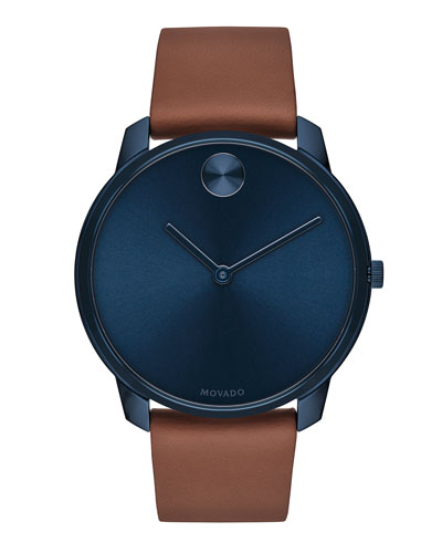 Men's Bold Watch with Leather Strap