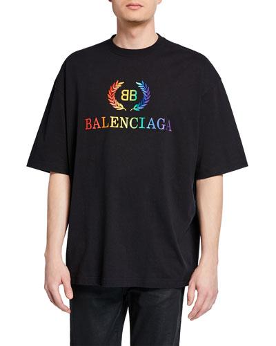 Men's Rainbow Logo Graphic T-Shirt