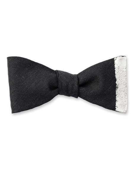 Vertical Stripe Bow Tie